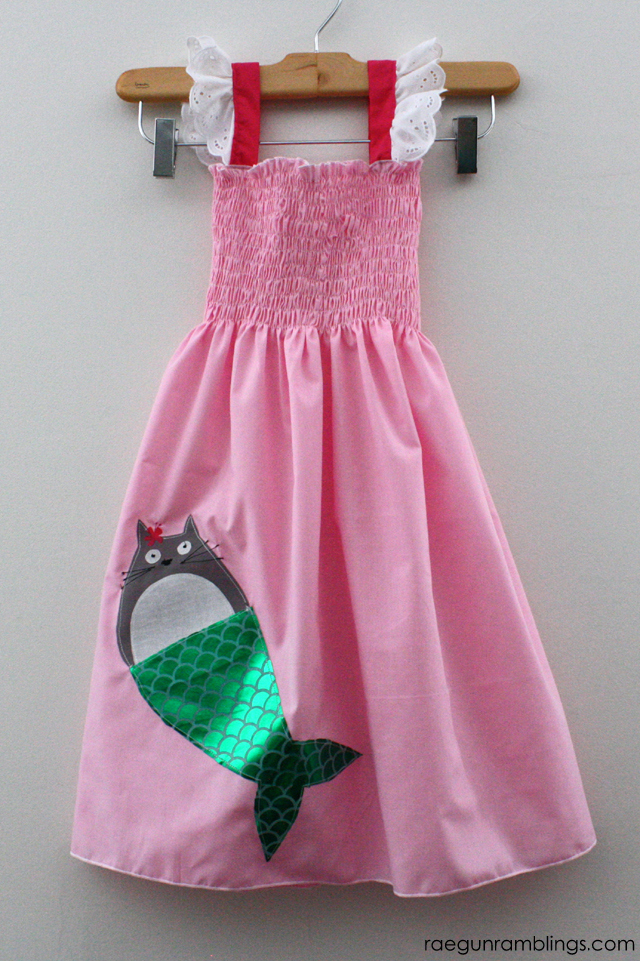 How to make a Totoro mermaid dress - Rae Gun Ramblings