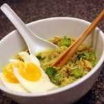 One of my favorite weeknight meals. Curry Peanut Butter Ramen recipe at Rae Gun Ramblings