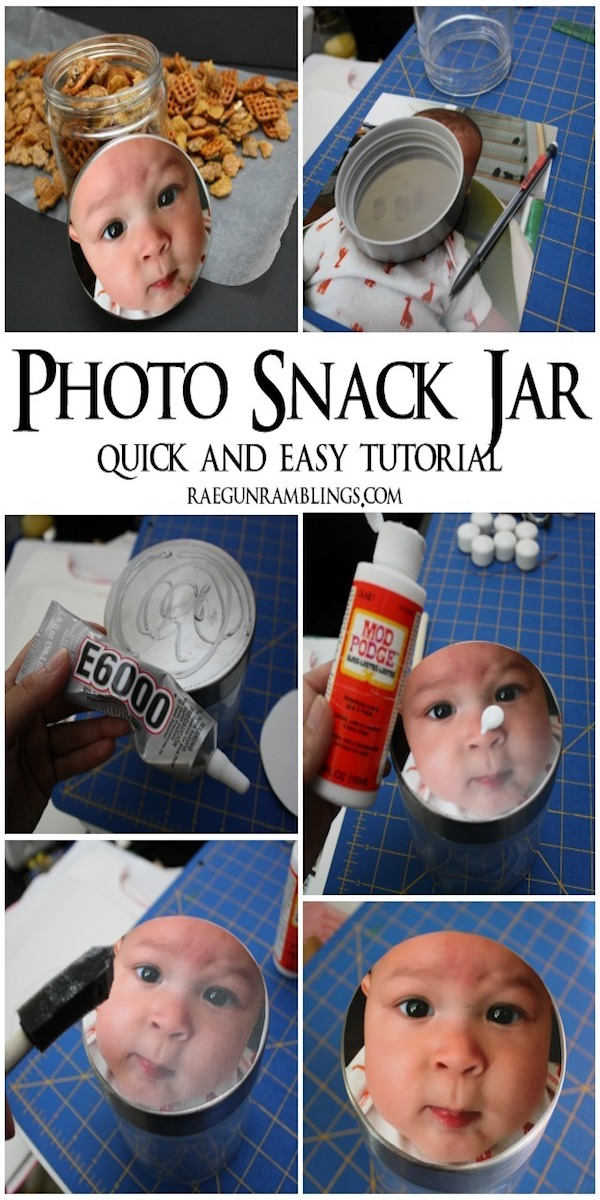 Easy DIY photo snack jar tutorial