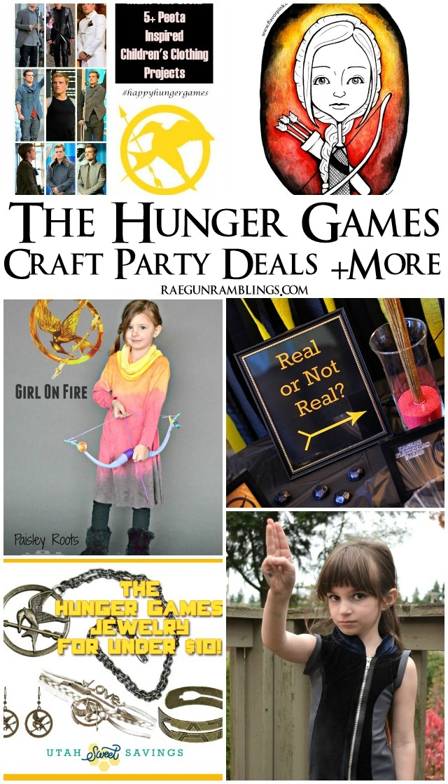 Tons of great Hunger Game related crafts, tutorials, party ideas and more - Rae Gun Ramblings