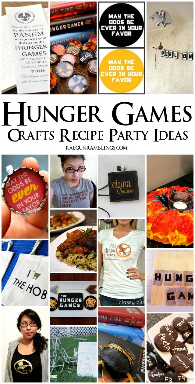 Great Hunger Games recipes, crafts, party ideas and book recommendations - Rae Gun Ramblings