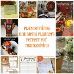 Thanksgiving place settings and menu ideas