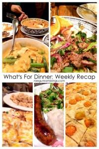 What's for Dinner weekly menu and recap at Rae Gun Ramblings