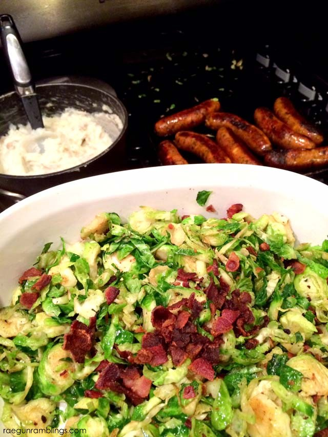 Bacon Brussels Sprouts - Rae Gun Ramblings