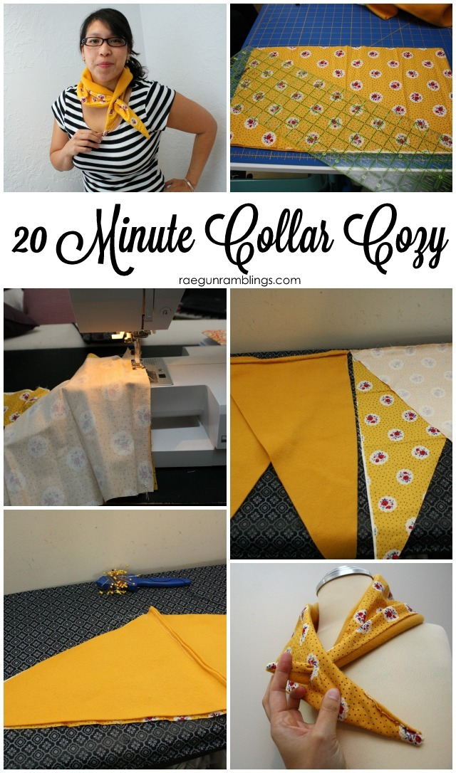 How to make a collar cozy - Rae Gun Ramblings