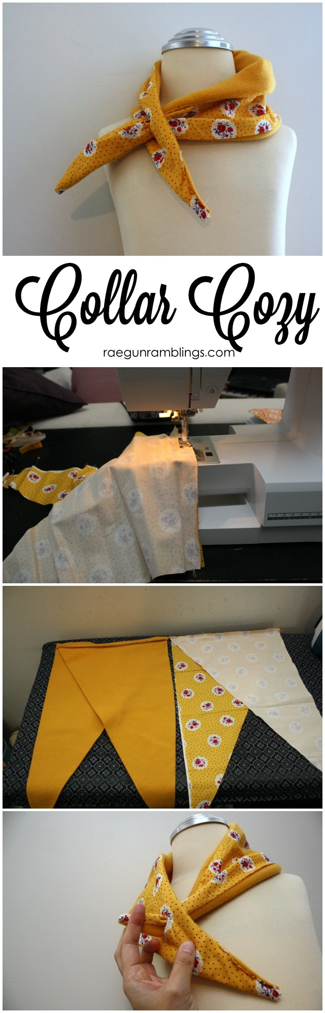 How to make a cute alternative to a scarf a collar cozy (great gift idea) Rae Gun Ramblings