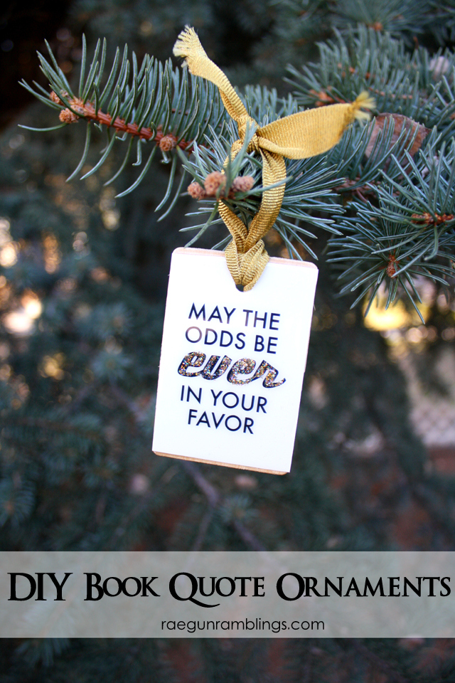 quick and easy book nerd ornaments that also work for pictures quotes and other things - Nerdy Christmas Ornaments