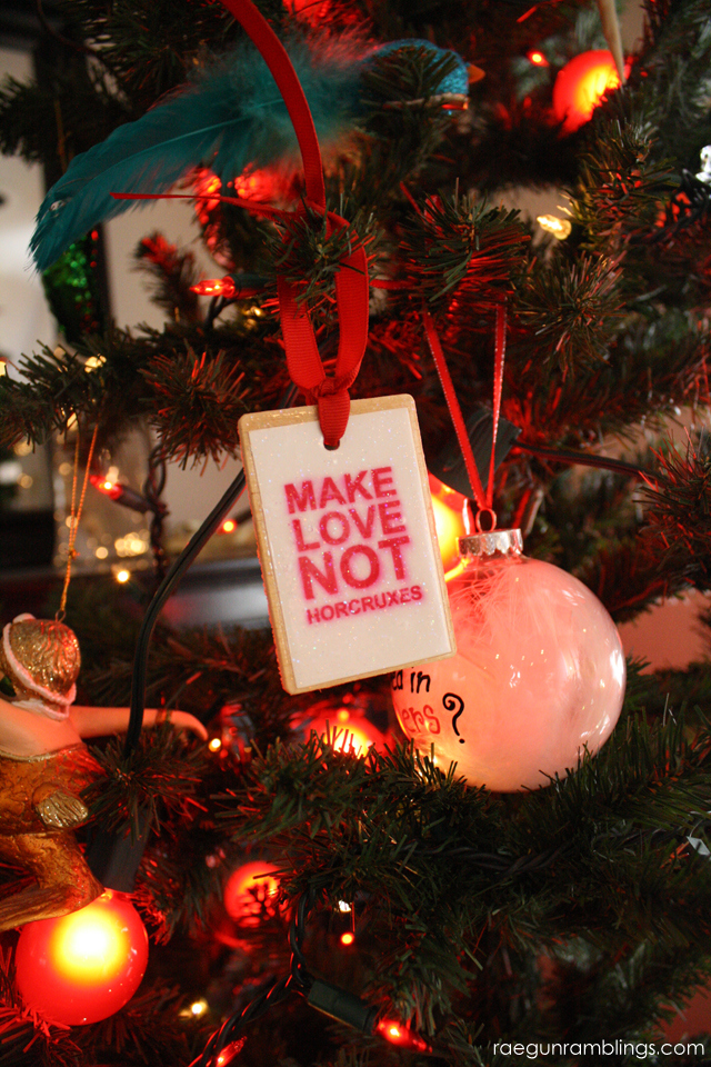Make Love Not Horcruxes Harry Potter Ornament - Rae Gun Ramblings