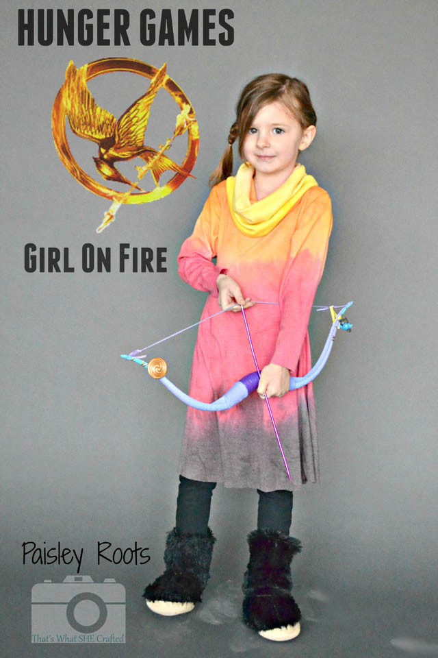 Hand Dyed Girl on Fire Dress