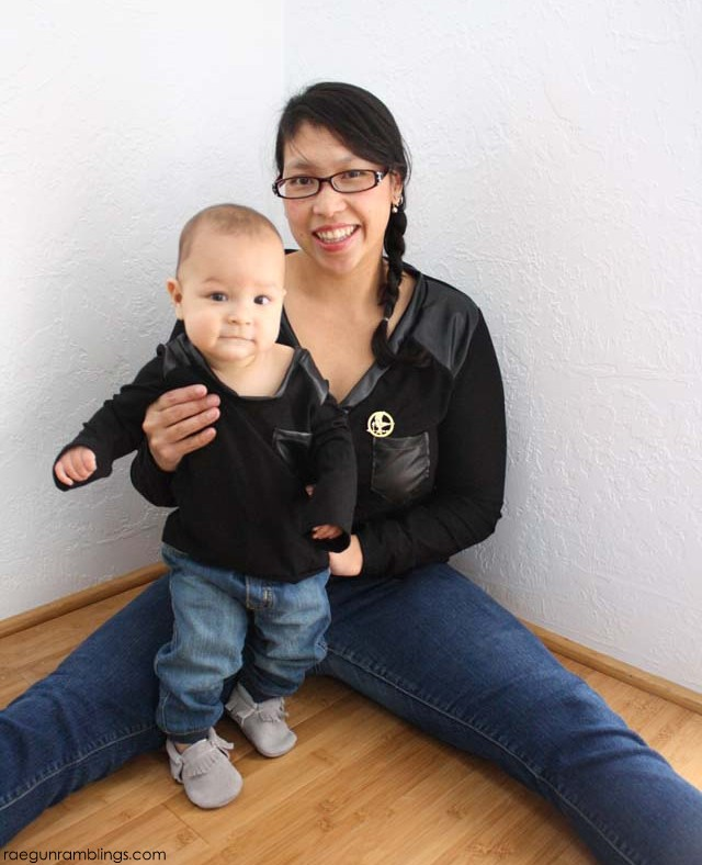 Boys can match their mamas too! DIY Hunger Games inspired shirts - Rae Gun Ramblings