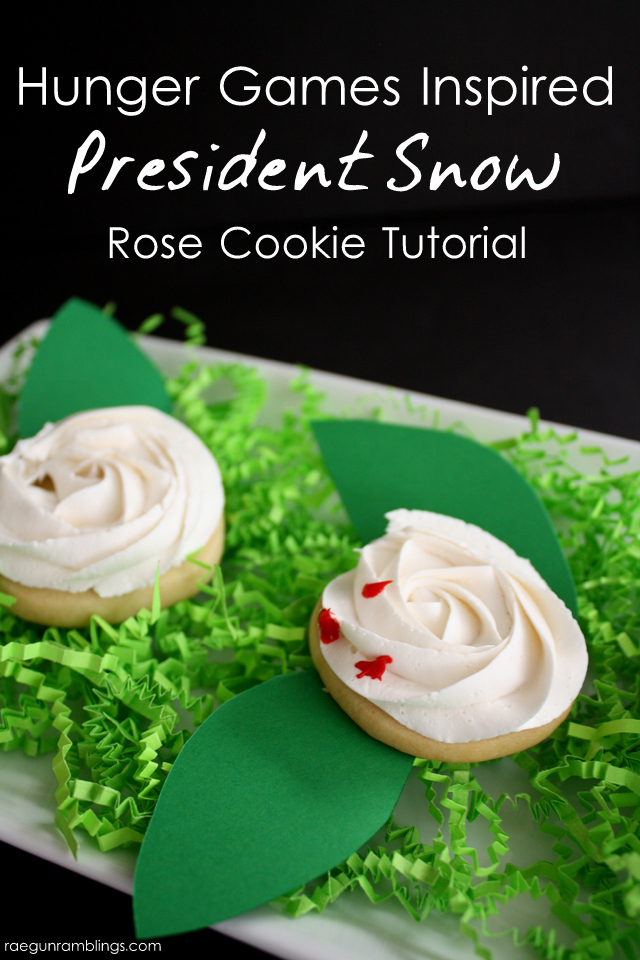 "How to make super easy President Snow roses. Great for Hunger Games parties. Or leave off the ""blood"" for cute roses - Rae Gun Ramblings"