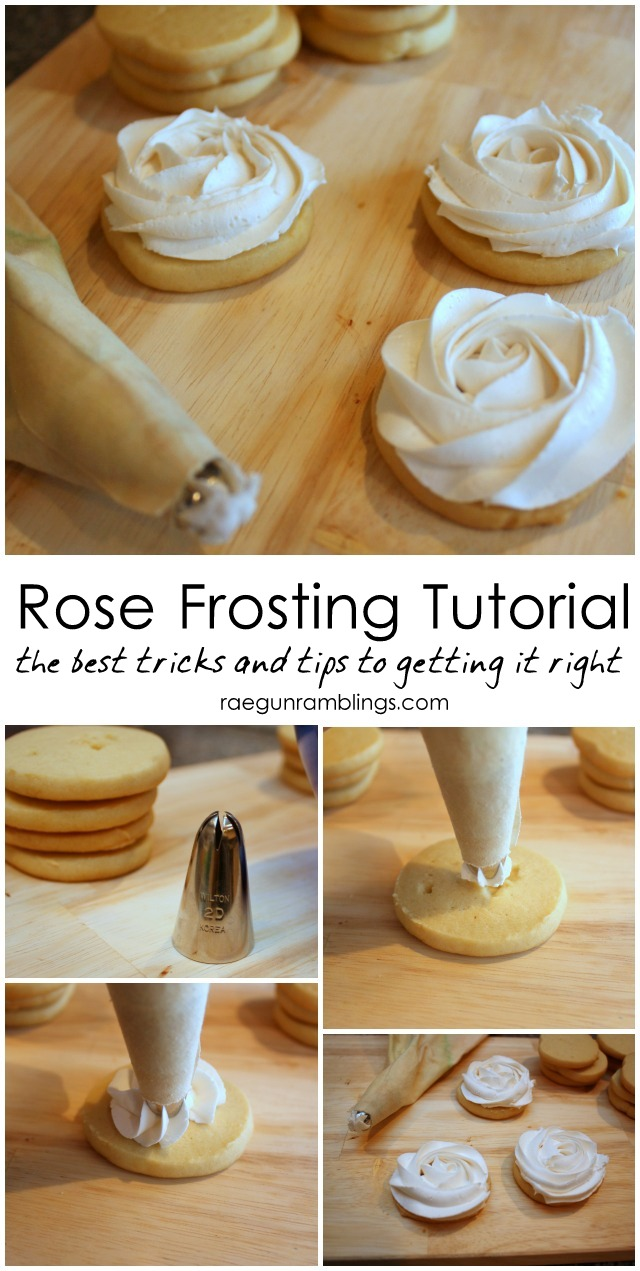 Step by step instructions on how to make perfect roses out of frosting - Rae Gun Ramblings