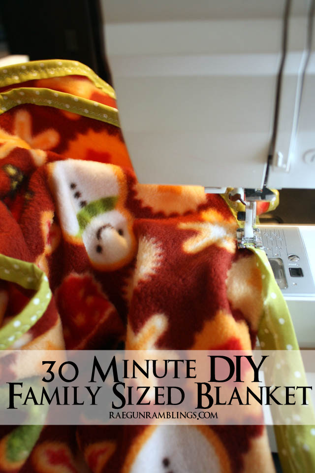 Make a blanket that the whole family can snuggle under in just 30 minutes - Rae Gun Ramblings
