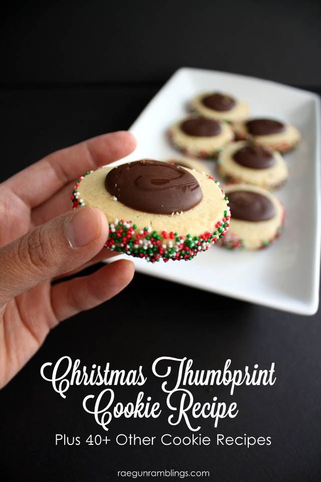 Christmas Thumbprint Cookie Recipe plus over 40 other cookie recipes - Rae Gun Ramblings