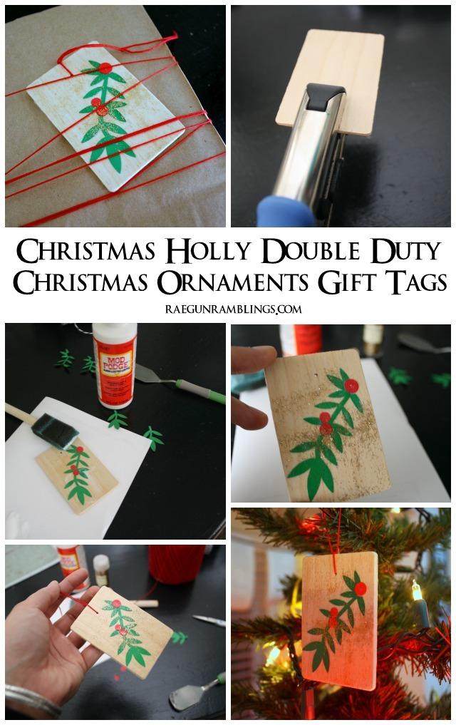 10 minute holly ornament tutorial - Rae Gun Ramblings