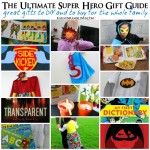 Great list of gifts to buy or diy for all Super Hero fans - Rae Gun Ramblings