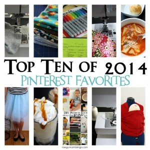 10 Most Pinned Recipes, Craft Tutorials, Sewing Tips and More of 2014