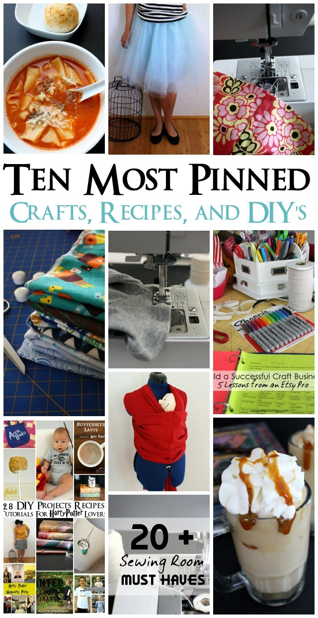 Some of the most popular quick and easy sewing projects, crafts, diy's and recipes - Rae Gun Ramblings