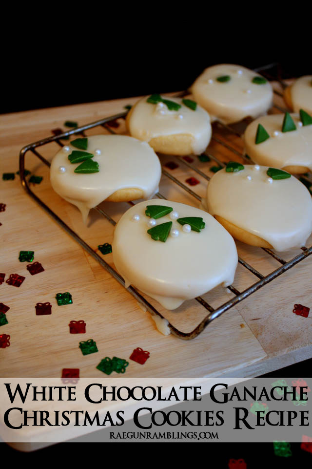 Easy White Ganache Christmas Cookies Recipe - Rae Gun Ramblings