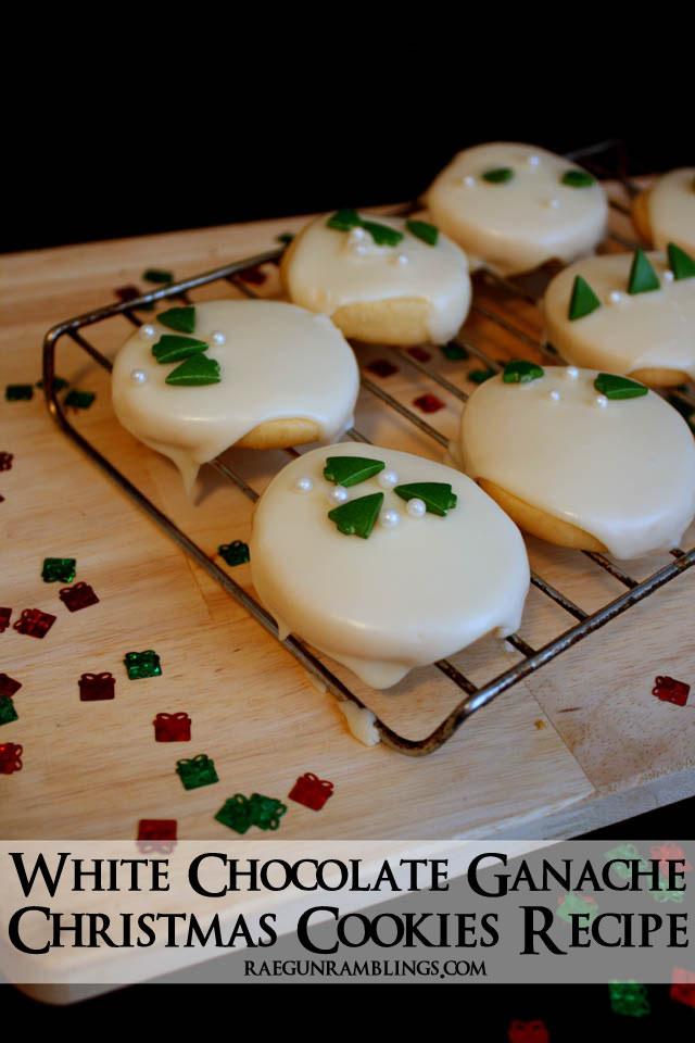 Easy White Ganache Christmas Cookies Recipe - Rae Gun Ramblings