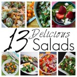 13 delicious salad recipes. Perfect for trying to get more veggies into your diet - Rae Gun Ramblings