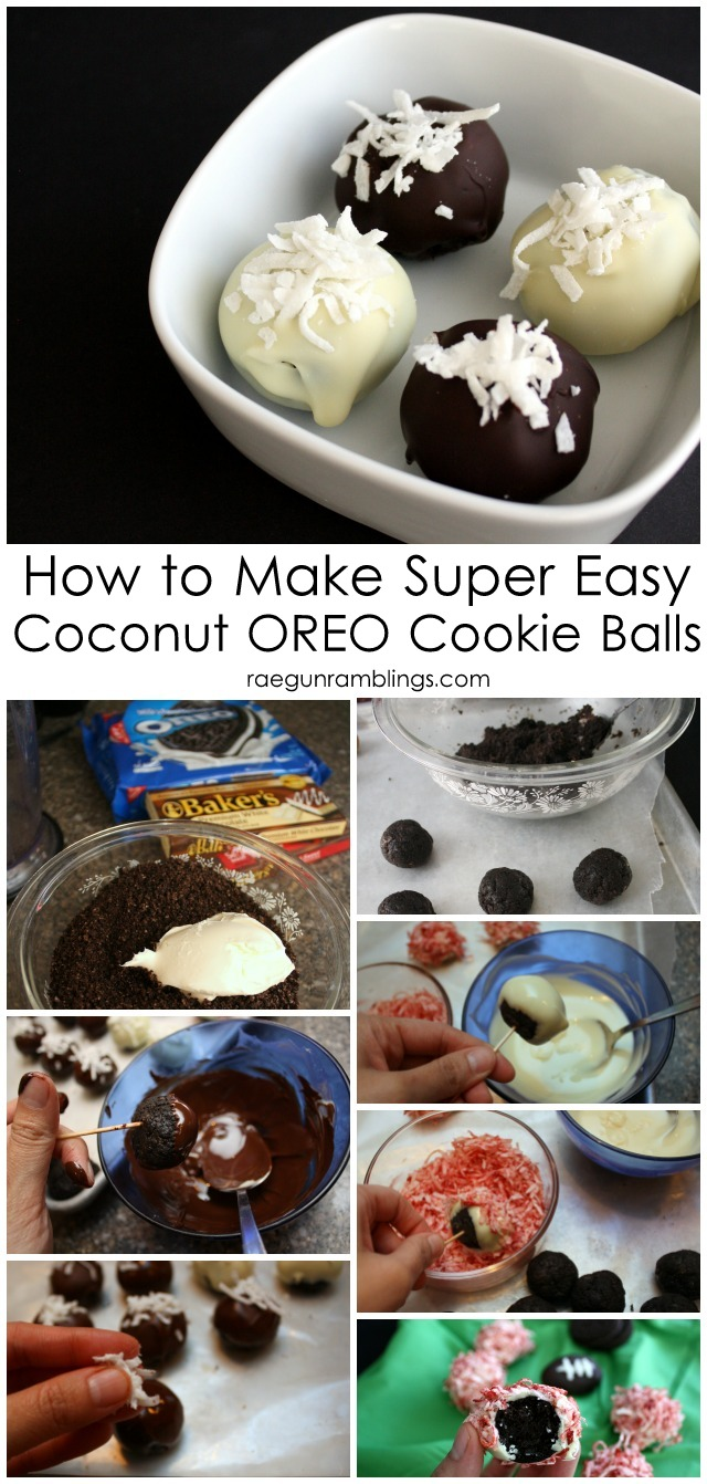 How to make coconut OREO cookie ball truffles - Rae Gun Ramblings