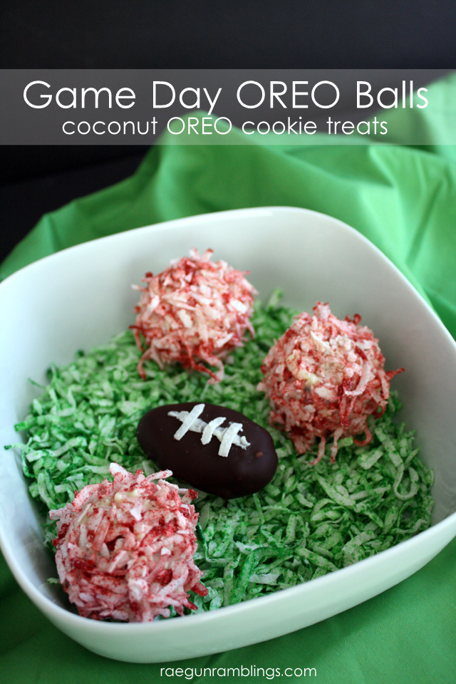 Fun football themed coconut oreo truffles - Rae Gun Ramblings