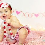 Darling Valentine's Day baby picture idea with cute raegunshop.com ruffle diaper coves