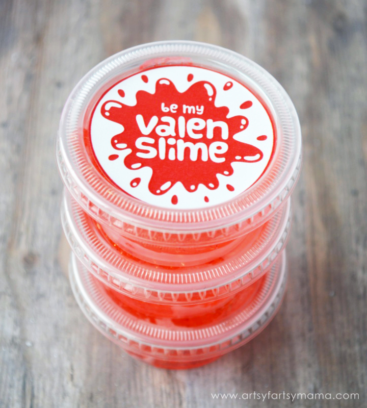How to make easy Valentine's Slime gifts