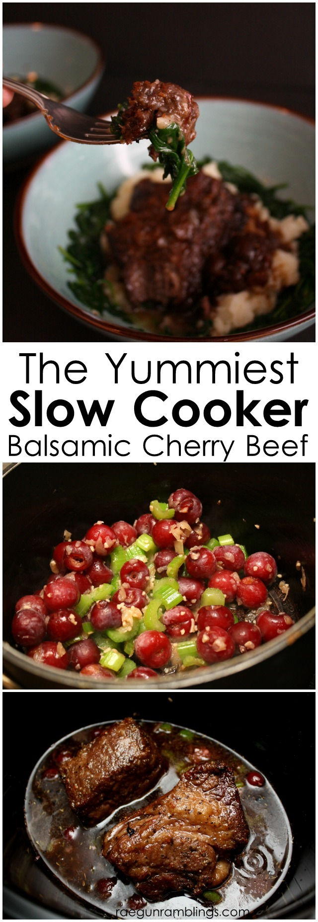 SOOO good! balsamic cherry beef roast crock pot and slow cooker - Rae Gun Ramblings