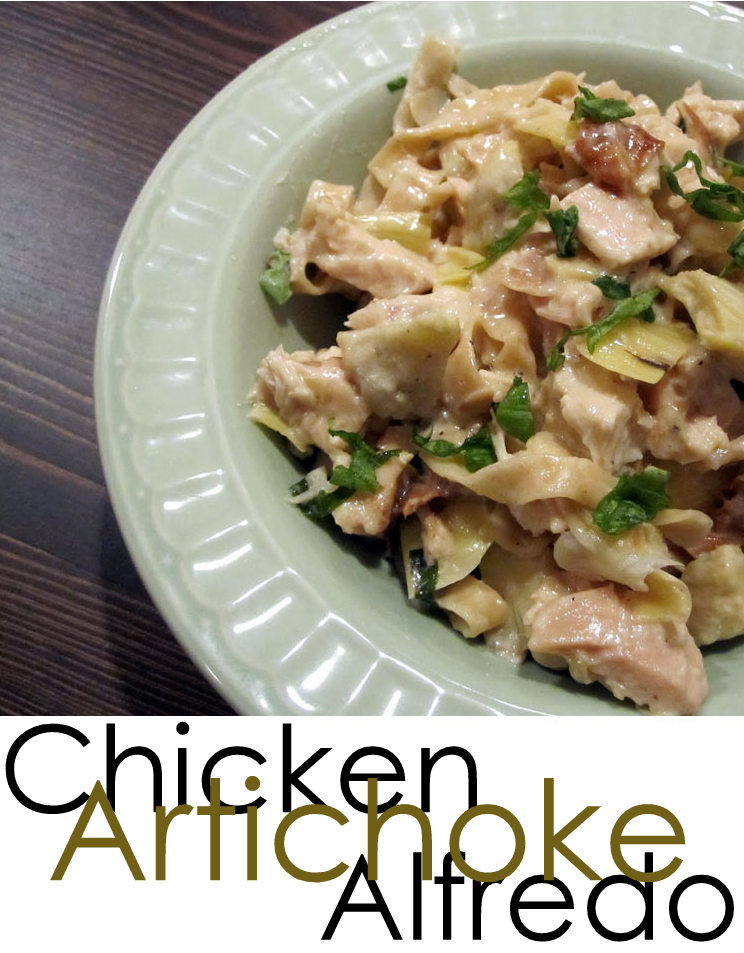 Chicken Artichoke Alfredo pasta recipe