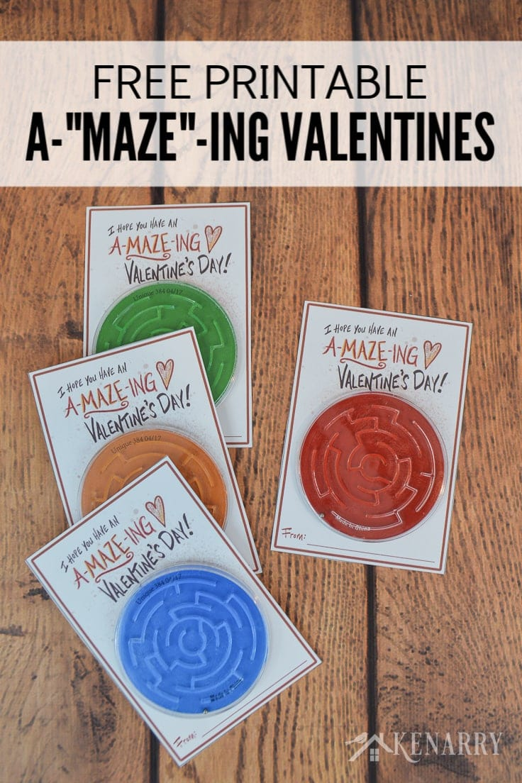 Free A-MAZE-Ing Valentine printable and tutorial
