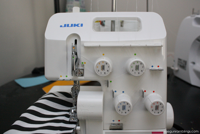 Tricks for gathering on a serger without a special attachment or foot - Rae Gun Ramblings