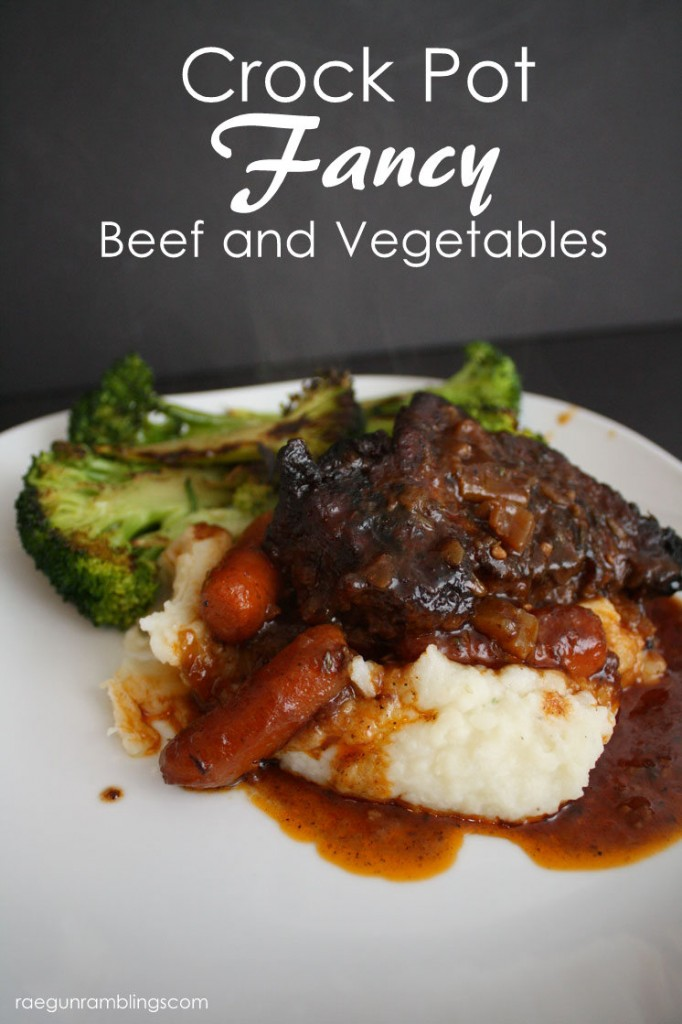 Great fancy beef and vegetables for the slowcooker
