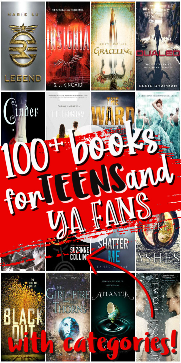 Giant list of books for Teens and Young Adult Readers. Perfect for fans of Divergent and Harry Potter.
