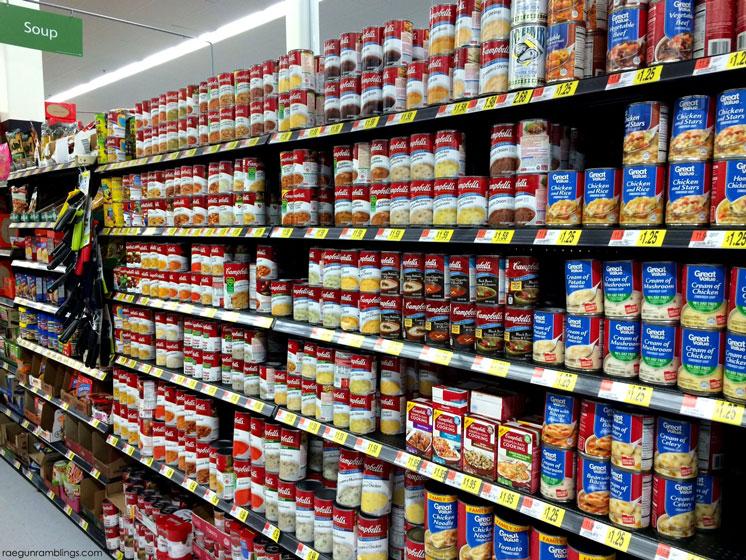 campbell's-soup-aisle at walmart