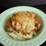 This is a keeper. Super yummy French inspired dish turned crock pot meal. Chicken Fricassee.