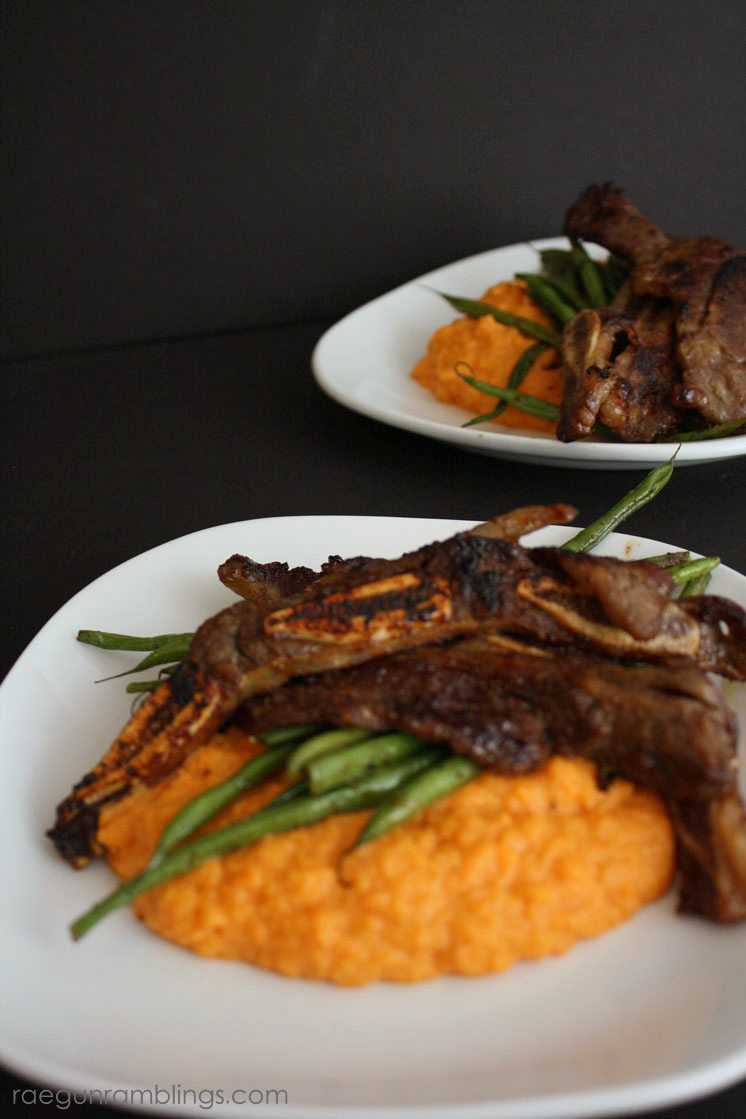 korean-bbq-and-mashed-sweet-potatoes
