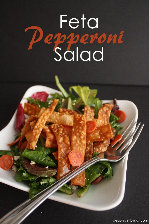 Great non-traditional side salad. Feta Pepperoni yum