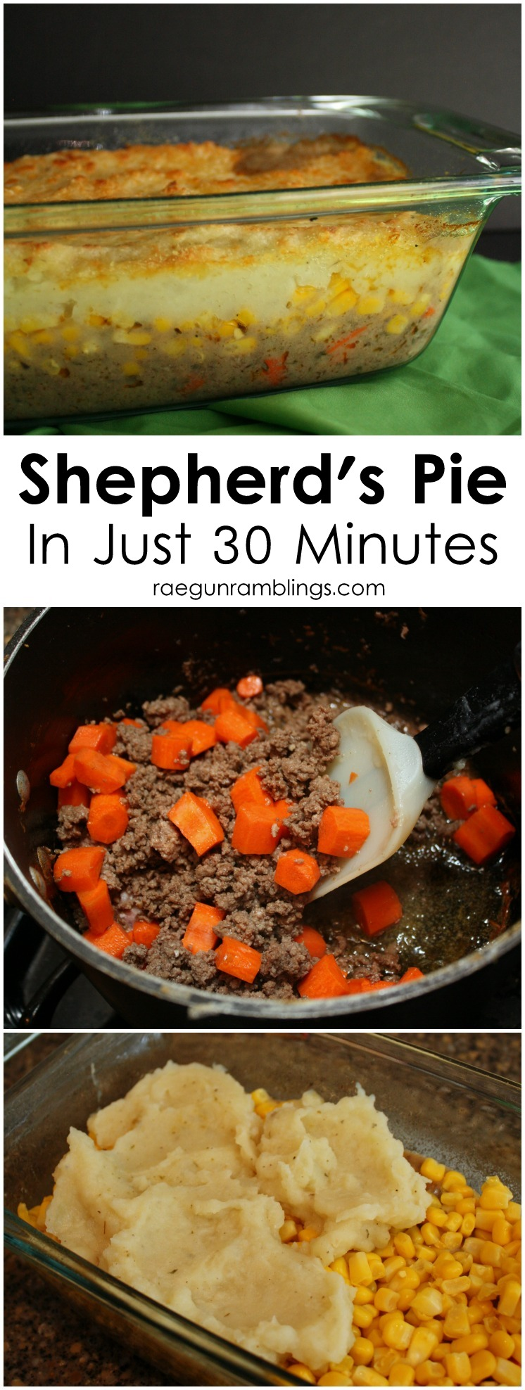the best shepherd's pie recipe. So quick and easy. Great addition for St. Patrick's Day and Pi Day