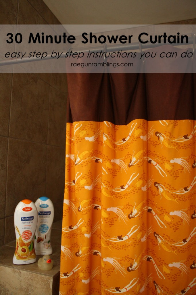 Great basic shower curtain tutorial. Perfect beginning sewing tutorial