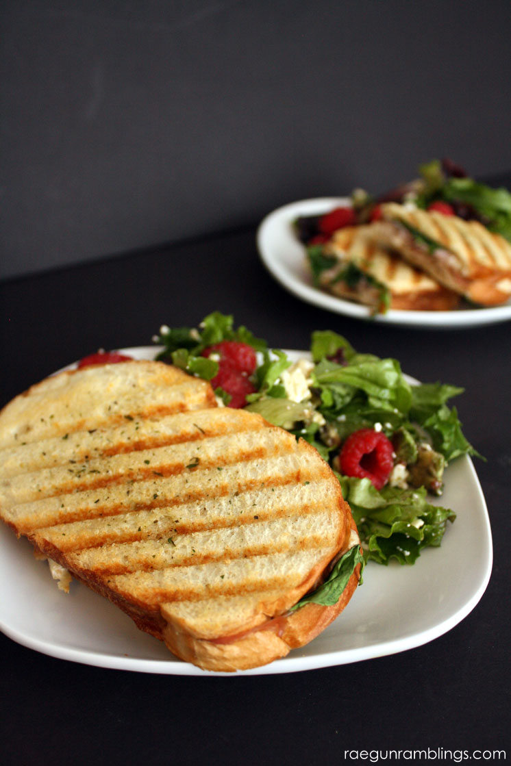 Delicious easy weeknight dinner chicken cordon bleu grilled cheese panninis