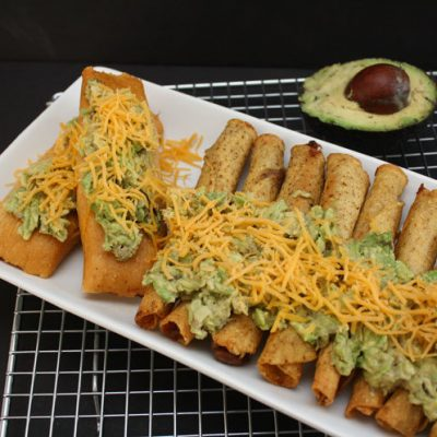 One Minute in Shell Avocado Topping for Taquitos and Tamales