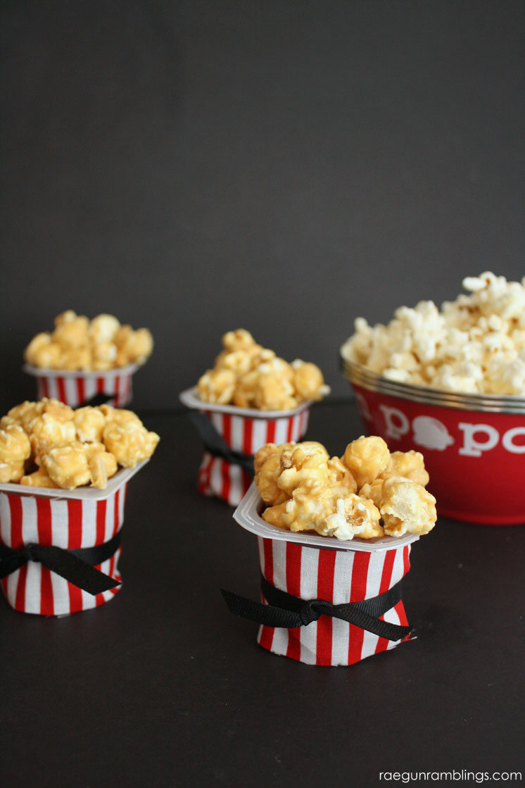 Love this idea. Cute and easy popcorn dessert idea great for movie night.