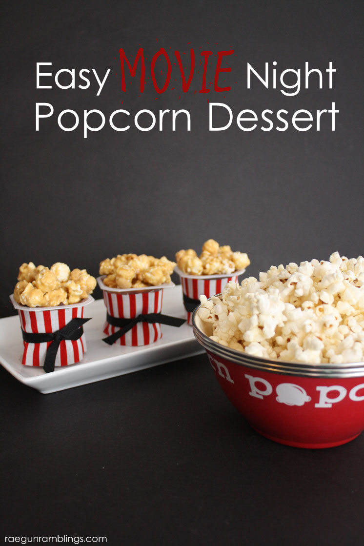 5 Minute popcorn dessert cups perfect for movie nights or parties