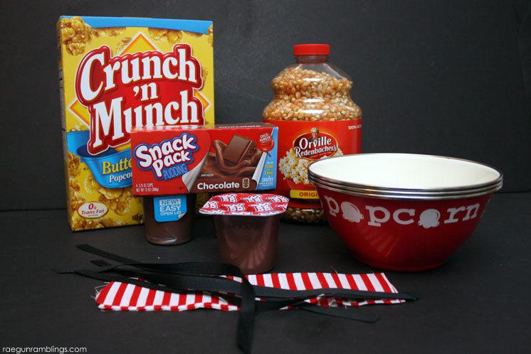 Easy pudding popcorn inspired movie night treat