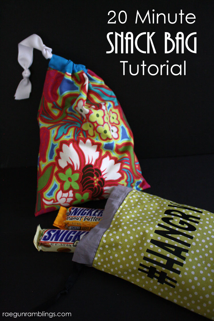 Super fast and easy snack baggie tutorial.