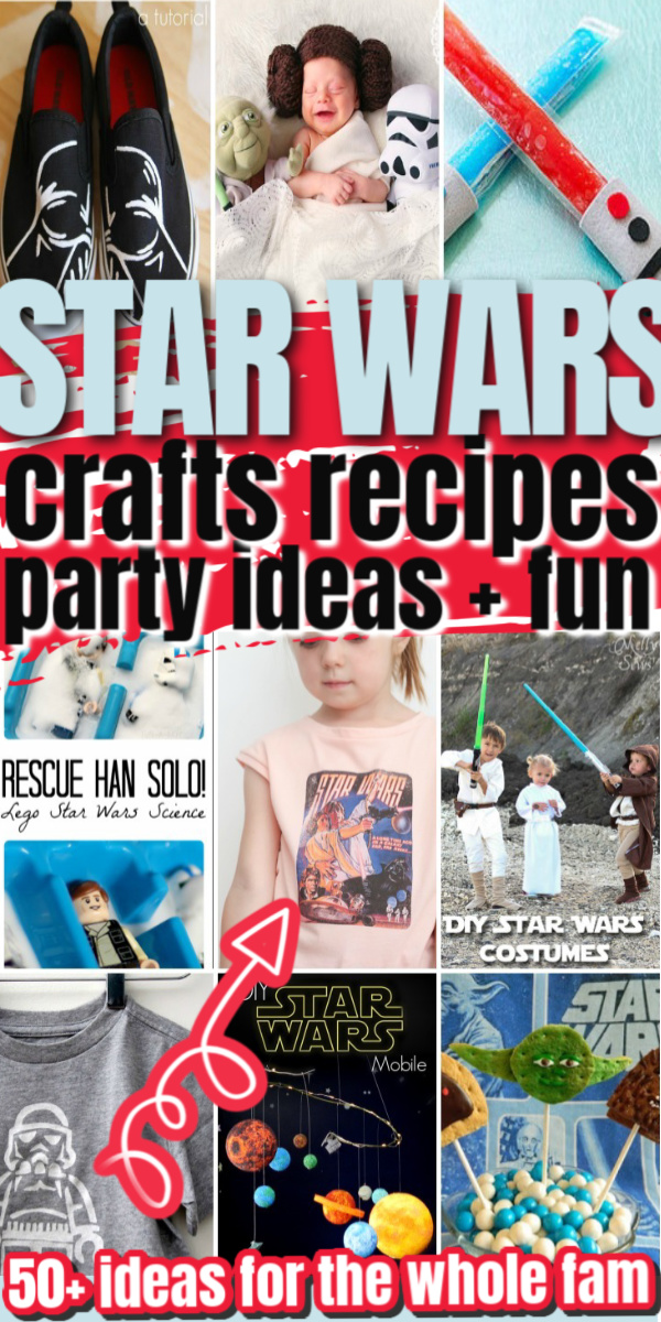So many awesome DIY Star Wars Crafts kids adults recipes party ideas and more geeky fun via @raegun