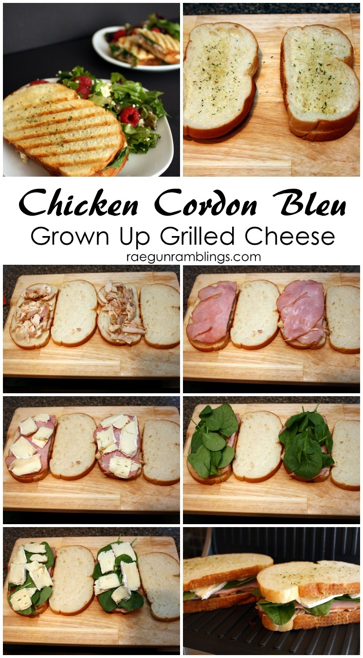 Must try this chicken cordon bleu grilled cheese sandwich recipe