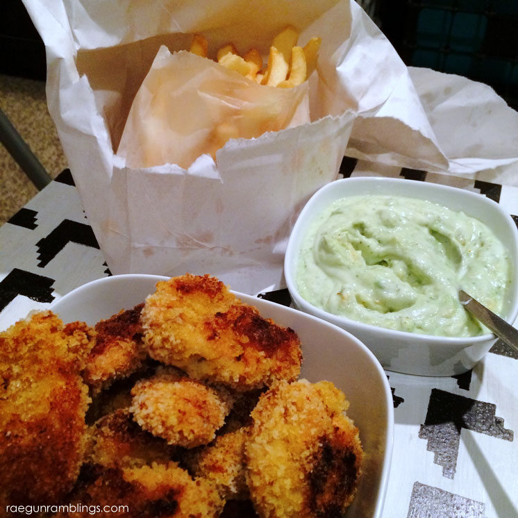 This curry chicken fingers recipe is so yummy especially with the avocado ranch bonus recipe